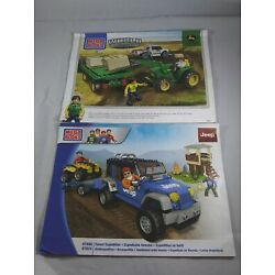 Kyпить Lot of 2 Mega Bloks INSTRUCTION MANUAL ONLY 97809 Jeep & 80841John Deere на еВаy.соm