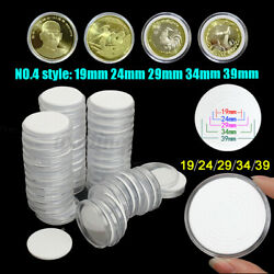 Kyпить US 50X 19/24/29/34/39mm Clear Acrylic Coin Round Storage PS Case Capsules Holder на еВаy.соm