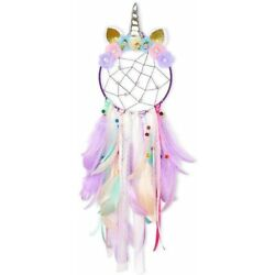Kyпить Purple Dream Catcher Flower Feather Pendant Wall Hanging for Car Home horn pink на еВаy.соm