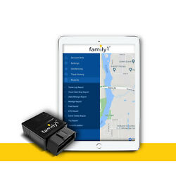 Family1st Real-Time GPS Tracker - OBD Tracking Device for Cars, Trucks or Fleets