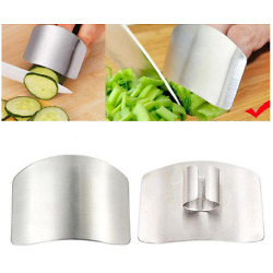 Kitchen Finger Hand Protector Guard Steel Chop Shield Cut Safety Cooking Gadget