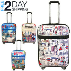 "Kyпить Luggage 25"" Suitcase Trolley Wheeled Spinner Travel Set Bag Lightweight Suitcase на еВаy.соm"