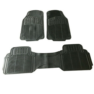 Car Floor Mats for All Weather Rubber 3pc Set Tactical Fit Heavy Duty Black New
