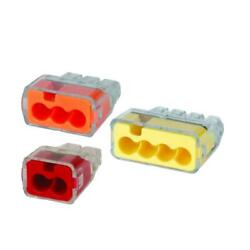 IDEAL In-Sure Push-In Wire Connector  2, 3 or 4 port 12-20AWG - Choose Your Size