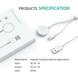 Kyпить For Apple Watch iWatch 5/4/3/2/1 iPhone 7 8 X XS Magnetic Charger 2in1 USB Cable на еВаy.соm