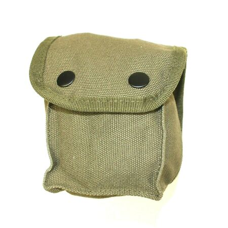img-BRITISH ARMY / POLICE STYLE UTILITY BELT POUCH in GREEN (GRADE 2 NEW/OLD STOCK)