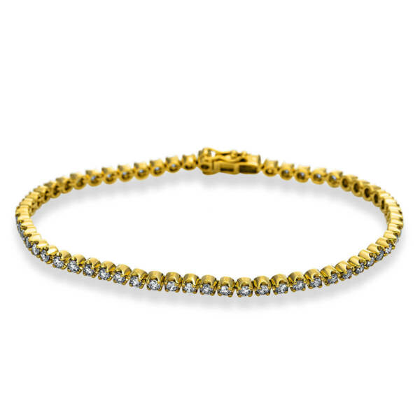 AllemagneTennis  From 750 Yellow Gold With 61 Diamonds 2,06 CT Tw-Si