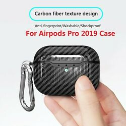 Kyпить For Apple AirPods Pro Case Carbon Fiber TPU Shockproof Charging Skin Case Cover на еВаy.соm