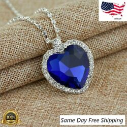Kyпить NEW Titanic Heart of The Ocean Sapphire Blue Crystal Necklace Pendant MEMORY Gif на еВаy.соm