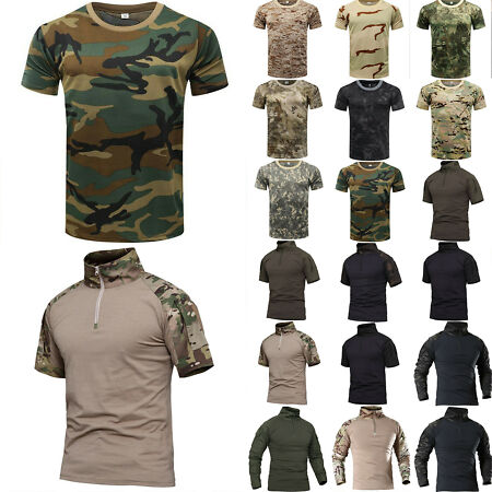 img-Summer Men's Military Camouflage Camo Athletic T-Shirt Army Combat Tee Blouse