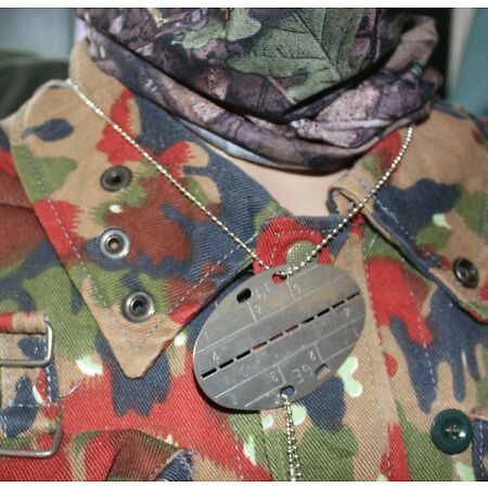 img-GERMAN ARMY REPRO WW2 STYLE NAME / DOG TAGS on NECKLACE CHAIN