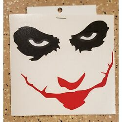 Awesome Handcrafted DC Joker Why So Serious Vinyl Decal Indoor/Outdoor NEW 5''