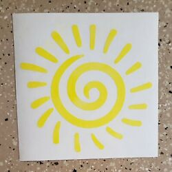 Awesome Handcrafted Sun Burst Yellow Vinyl Decal Indoor/Outdoor NEW 5''