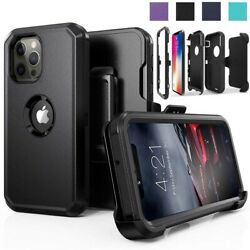 Kyпить For iPhone 11/12 Pro Max Shockproof Defender Case With Stand Belt Clip Holster на еВаy.соm