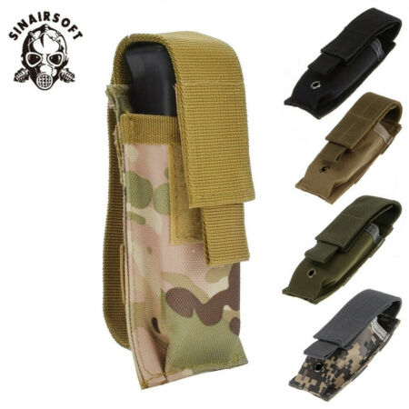 img-Single Pistol Magazine Ammo Pouch MOLLE Airsoft Military Tactical Army Holster