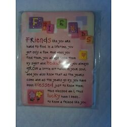 Blue Mountain Arts - Miniature Easel-back Friends Print with Magnet - NIP