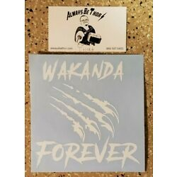 Handcrafted Black Panther Wakanda Forever Claw Vinyl Decal Indoor/Outdoor NEW 5''