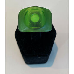 Kyпить Green Lantern Band Ring with Glow-in-the-dark Stone, Resin, made in USA на еВаy.соm