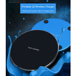Kyпить 15W Qi Wireless Charger Fast Charge Pad For Samsung iPhone XS Max X XR 12 11 Pro на еВаy.соm