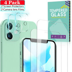 Kyпить For iPhone 12/12 Pro Max  Tempered Glass Screen Protector+Camera Lens Protector на еВаy.соm