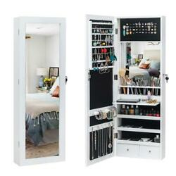 Kyпить LED Light Mirror Jewelry Armoire Wall Mounted Hung Over Door Cabinet Organizer на еВаy.соm