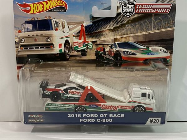 Royaume-UniÉquipe Transport Hot Wheels Real Riders 2016 Ford Gt Course Ford C-800 GJT40
