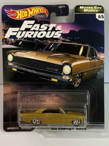 Royaume-UniFast And Furious 1966 Chevy Nova Real Riders Hot Wheels GJR72