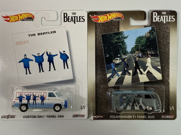 Royaume-UniThe Beatles Hot Wheels Pop Culture Real Riders 2 Voiture Set DLB-946C 1:64