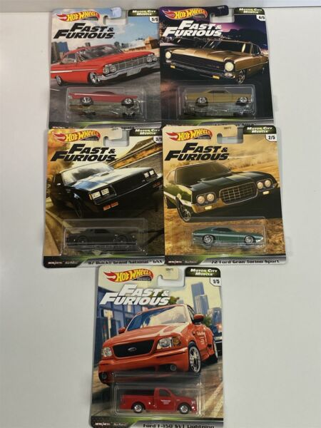 Royaume-UniFast And Furious Muscle Collection Real Riders 5 Voiture Set Hot Wheels