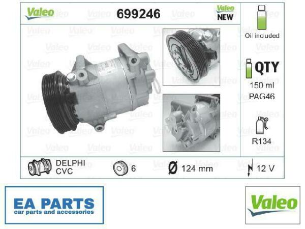 LituanieCompressor, air conditioning for NISSAN RENAULT VALEO 699246