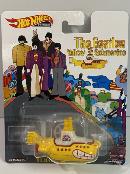 Royaume-UniThe Beatles Jaune sous-Marin Hot Wheels Real Riders FYP71