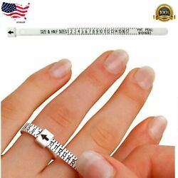 Kyпить USA Ring Sizer Measure Tool Gauge Plastic Finger Sizing Finder Reusable US 1-17 на еВаy.соm
