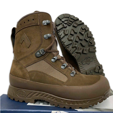 img-HAIX BROWN LEATHER HIGH LIABILITY DESERT COMBAT BOOTS - Sizes , British Army NEW