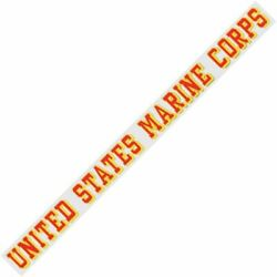 Clear United States Marine Corps Long Inside Window Decal Gold & Red USMC 16''