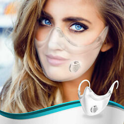 Kyпить 1 Pack Clear Face Shield Nose Mask Plastic Transparent Breathing Valve Anti-Fog на еВаy.соm
