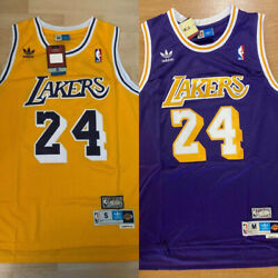 Kyпить MEN'S/YOUTH Kobe Bryant #24 Los Angeles Lakers Throwback GOLD/PURPLE Sewn Jersey на еВаy.соm