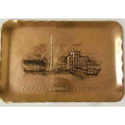 Kyпить Vintage Adolph Coors Company Wendell August Forge Handmade Bronze Tray RARE на еВаy.соm