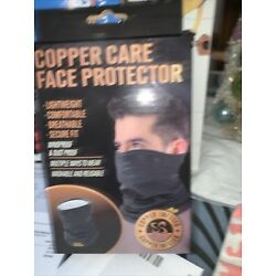 Copper Care Infused Face Protector/neck Guard Mask Lightweight Washable, New!