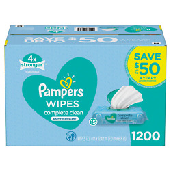 Kyпить Pampers Scented Baby Wipes, Complete Clean (1200 ct.) на еВаy.соm