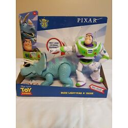 Disney Pixar Toy Story Buzz Lightyear and Trixie Adventure Poseable 2-Pack