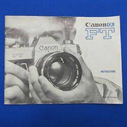 Kyпить Original Canon FT Instruction Manual - Very Good with Free Shipping на еВаy.соm