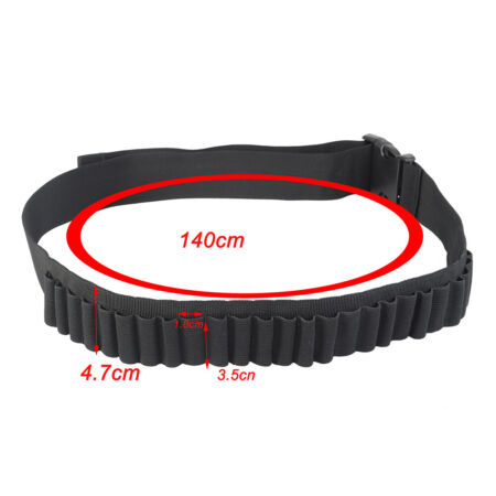 img-25Round Tactical Bullet Holder Ammo Pouch Belt Airsoft Shot Pistol Gun Accessory