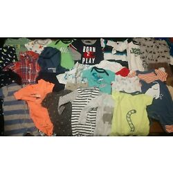 Kyпить Baby Boy Clothes Lot 0-9month Mixed Lot Mixed Style And Size + 3 Swaddle See Pic на еВаy.соm
