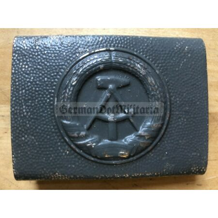 img-om516) East German belt buckle grey NVA VP VoPo Police Army Stasi Berlin DDR
