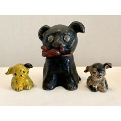 Kyпить ANTIQUE CAST IRON PENNY BANK 1914 FIDO + HUBLEY HINES DOGS PAPERWEIGHT PATINA на еВаy.соm