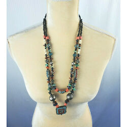 Kyпить Turquoise Jewelry Southwest Heishi Coral Polished Caved Stone Beaded Necklace на еВаy.соm