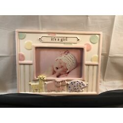 Kyпить Grasslands Road Ceramic 4 x 6 It'S A Girl Picture Frame Pink Animals Ceramic  на еВаy.соm
