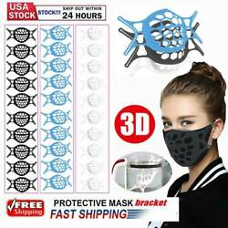 Kyпить 10x 3D Face Mask Bracket Mouth Separate Inner Stand Soft Silicone Holder Frame на еВаy.соm