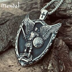 Kyпить MENDEL Mens Catholic Christian Saint St Michael Medal Medallion Pendant Necklace на еВаy.соm