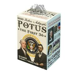Kyпить 2020 Historic Autographs POTUS - The First 36 Blaster Box PRESALE 1/15 на еВаy.соm